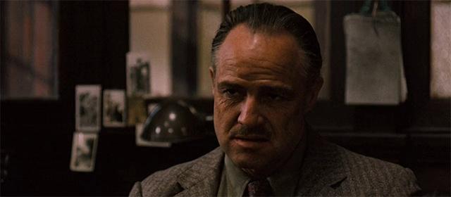 Marlon Brando dans Le Parrain (1972)