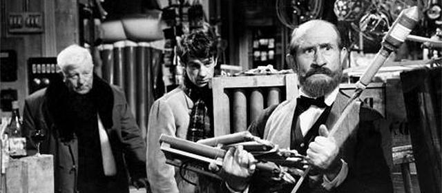 Jean Gabin, Jean-Paul Belmondo et Noël Roquevert dans Un Singe en Hiver (1962)