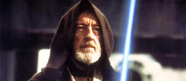 Alec Guinness dans Star Wars Episode IV : Un Nouvel Espoir (1977)