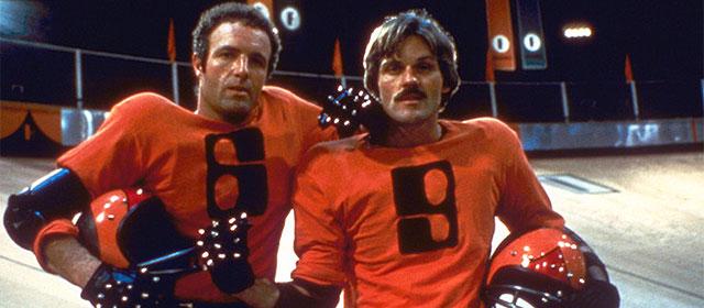 James Caan et John Beck dans Rollerball (1975)