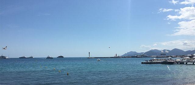 Le soleil est toujours bien présent à Cannes !