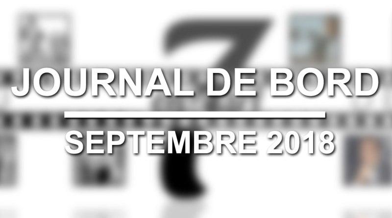 Journal de bord : Septembre 2018