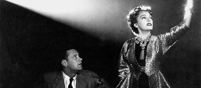 William Holden et Gloria Swanson dans Boulevard du crépuscule (1950)