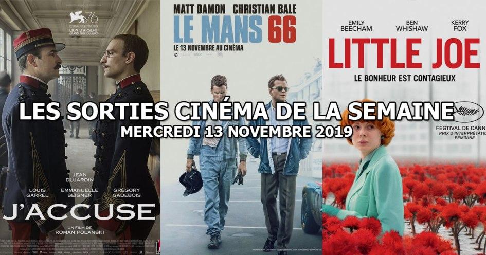 Les sorties cinéma de la semaine - mercredi 13 novembre 2019