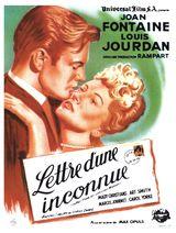 Affiche de Lettre d'une inconnue (1948)