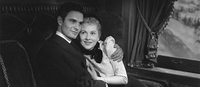 Louis Jourdan et Joan Fontaine dans Lettre d'une inconnue (1948)