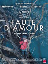 Affiche de Faute d'amour (2018)