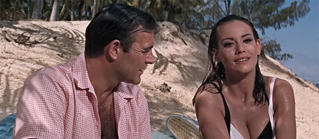Sean Connery et Claudine Auger dans Opération Tonnerre (1965)