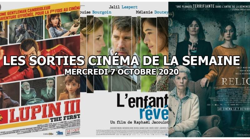 Les sorties cinéma de la semaine - mercredi 7 octobre 2020