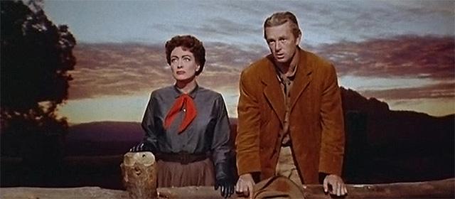 Joan Crawford et Sterling Hayden dans Johnny Guitare (1954)