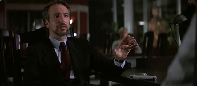 Alan Rickman dans Piège de cristal (1988)