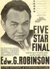Affiche de Five Star Final (1931)