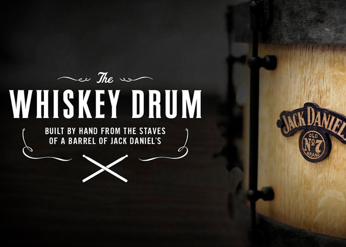 Jack Daniel's whiskey drum