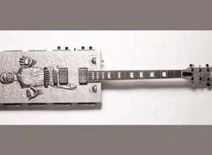 Travis Stevens's custom Han Solo guitar