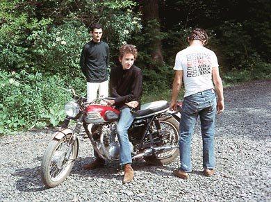 Bob Dylan Triumph Motorcyle