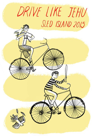 Poster for Sled Island 2015 by artist Chelsea O'Byrne