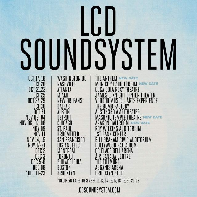 Fall Tour Dates for LCD Soundsystem