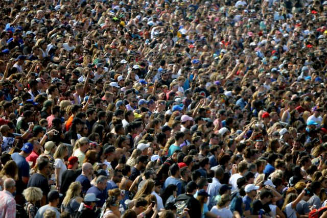 A sea of fans watching Foster The People. Photo by Brian F. Benton.