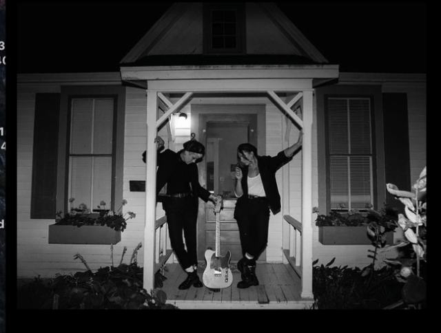 US IN THE PORCH OF A HOUSE WE RENTED FOR 2 NIGHTS IN BRODHEAD THAT WAS OWNED BY A CLOWN. VINYL RECORD PLAYER, BUNK BEDS AND MERCH MAKING. AS MUCH AS WE COULD WE ALWAYS TRY AND STAY SOMEWHERE WEIRD.