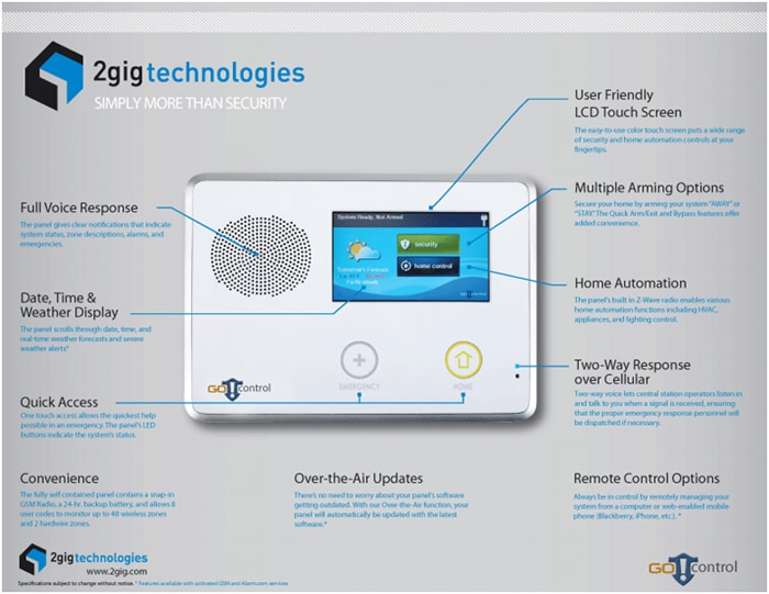 Wireless Alarm System Touch Screen