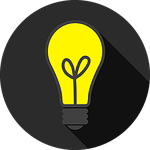 Glühbirne als Symbol für Fazit