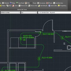 Wiring Diagram For Fire Alarm System Typical Alarmcad Autocad 2019 Compatibility