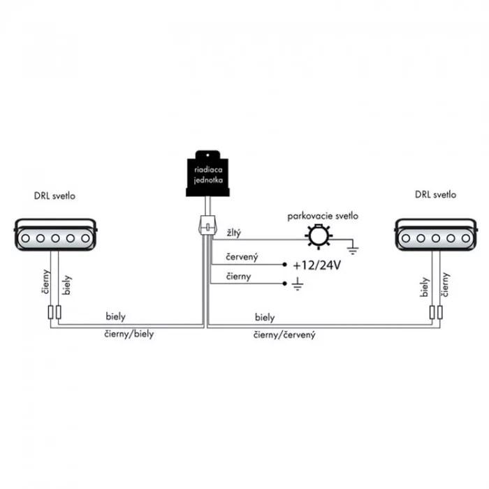 LED světla pro denní svícení, Keetec, DRL 12-1W, s