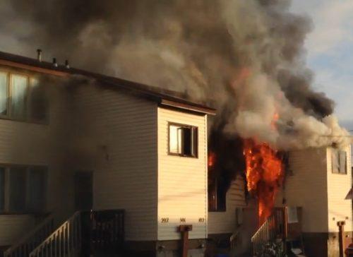 Fire Guts Nome Apartment Building