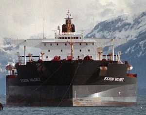 The Exxon Valdez oil tanker