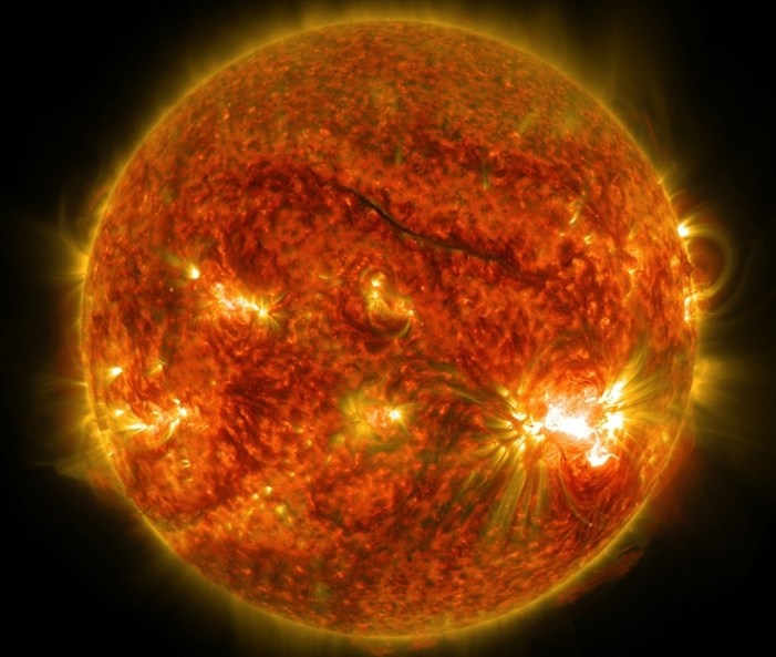 One Giant Sunspot, Six Substantial Flares