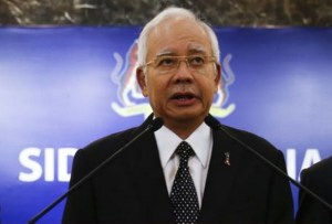 Malaysian Prime Minister Najib Razak tells reporters that debris is from Malaysia airliner.