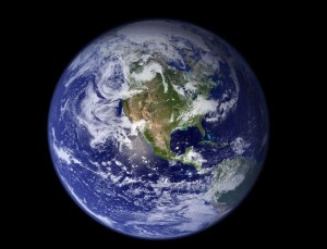 This view of Earth comes from NASA's Moderate Resolution Imaging Spectroradiometer aboard the Terra satellite. Image credit: NASA