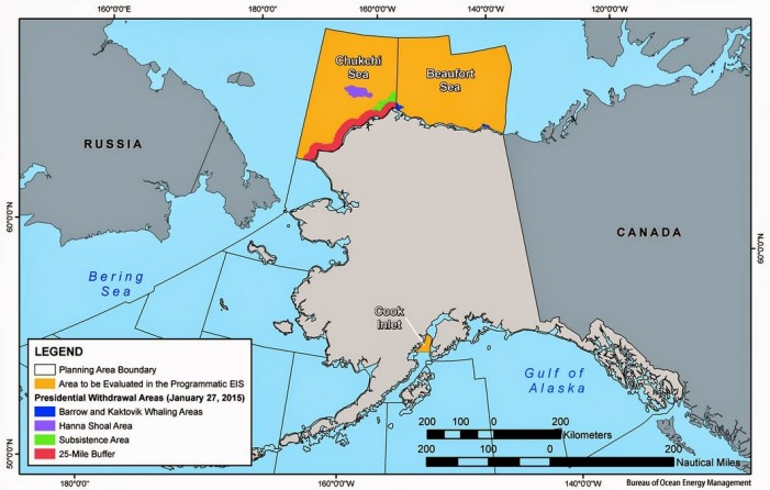 Department of Interior Cancels Two Chukchi, Beaufort Sea, Lease Sales