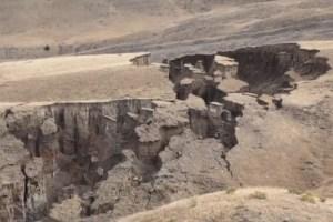 A huge crack is opening in Wyoming. Image-Screengrab/Colorado Channel Nine