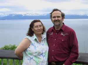 The search for Texas resident Gary Pitt, who was sucked under a log jam on the Goodpastor River have been unsuccessful. He is pictured here with his wife, De'Ette Pitt, who also passed away this year. Image-The Pitt Family
