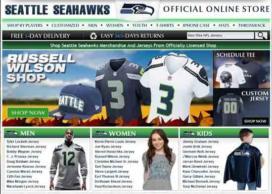 Shopper Comes Across Fake Seahawks Site