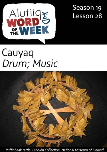 Music, Drum-Alutiiq Word of the Week-January 8th