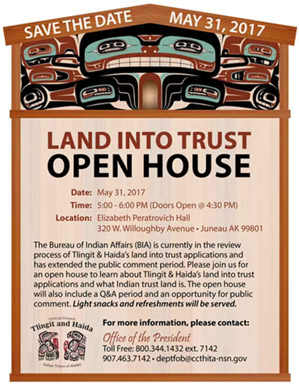 Land into Trust Open House Today!