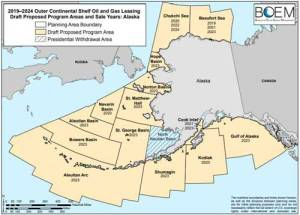 Proposed BOEM oil and gas lease parcels. Image-BOEM