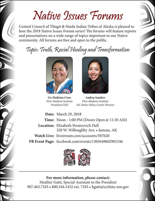 Native Issues Forum March 29th