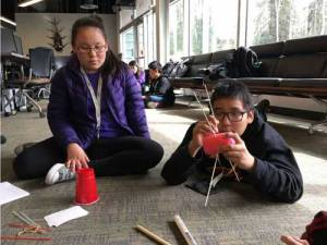 BSSD students participating in ANSEP Middle School Windmill Challenge. Image-ANSEP