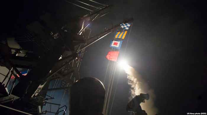 US Strikes Syrian Air Base in Retaliation for Chemical Weapons Attack