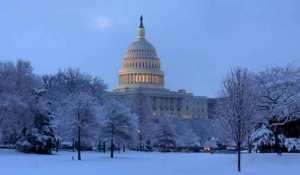 Capitol building in snow. Image-capitol.gov