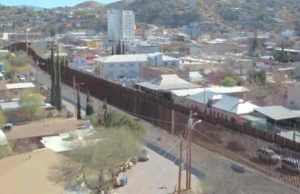 Section of actual border wall in the U.S. south.