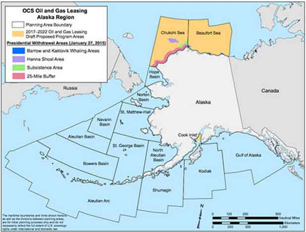 Obama Shuts Down Large Areas of Atlantic Shelf and Arctic Ocean to Oil/Gas Exploration