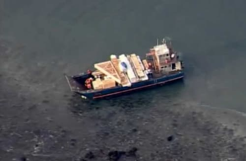 Landing Craft in Danger of Sinking Runs Aground South of Cape Kuliuk, Coast Guard Responds