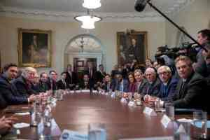 Alaska Governor Michael Dunleavy(far right) at White House event with Trump, Pence, Republican governors and other federal officials.