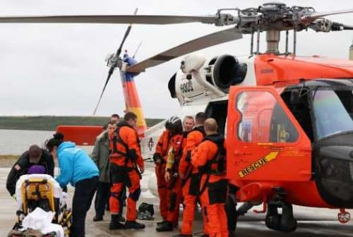 Coast Guard Aircrew Rescues Three from Small Skiff in Holtham Inlet