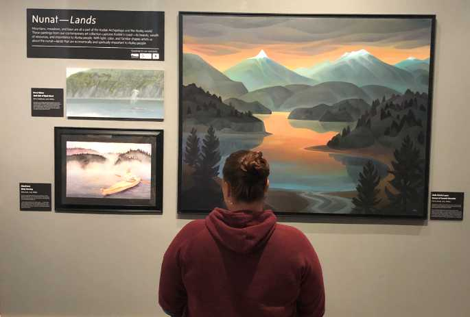 Painting Display Features Kodiak Landscapes