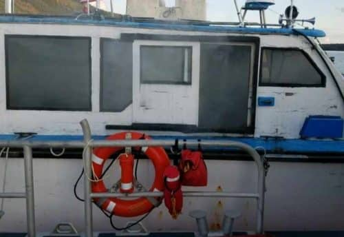 Three Boaters Rescued from Burning Vessel near Ward Cove